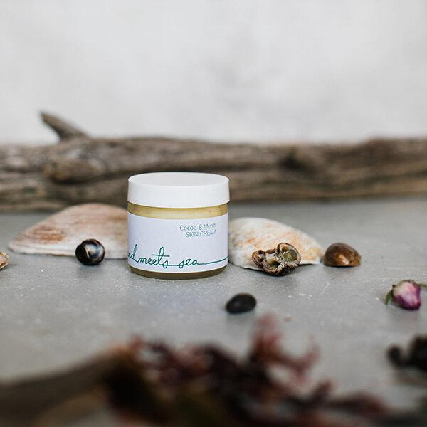 "Land Meets Sea ""Cocoa & Myrrh"" Skin Cream - Diamonds & Rust"