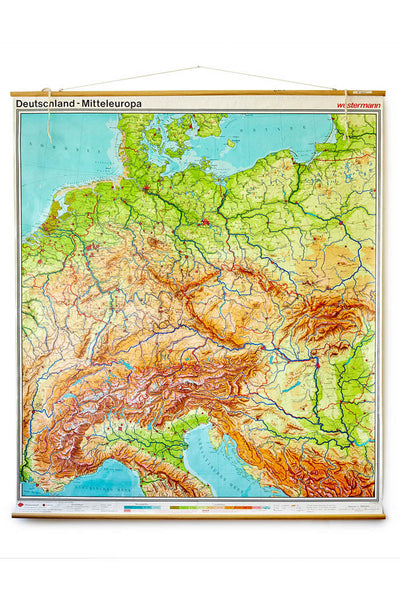 Map of Germany by Westermann 6.5' x 7.5'