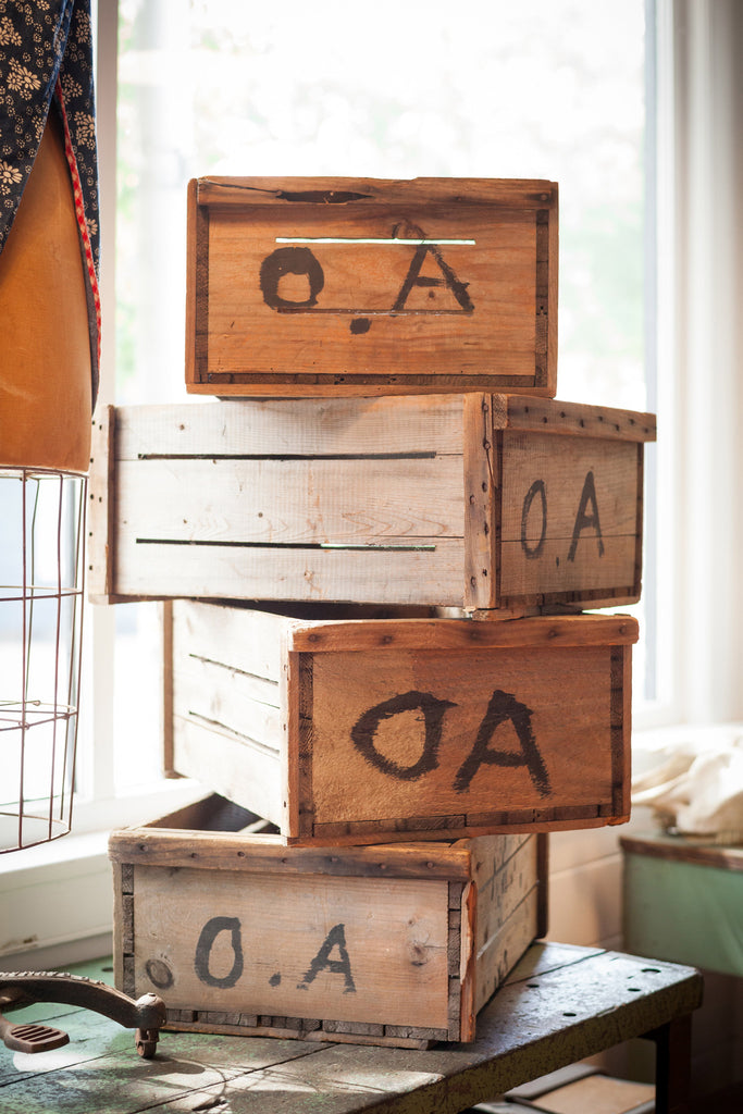 Antique Wood Cranberry Crates