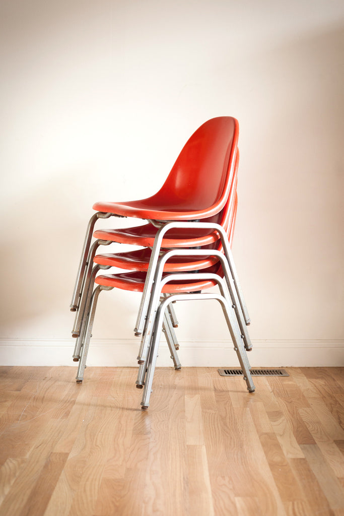 Set of 4 TechFab Stacking Chairs