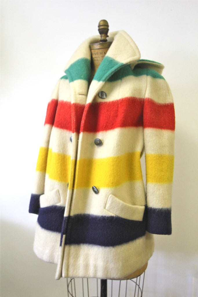 Huson's Bay Striped Hooded Coat