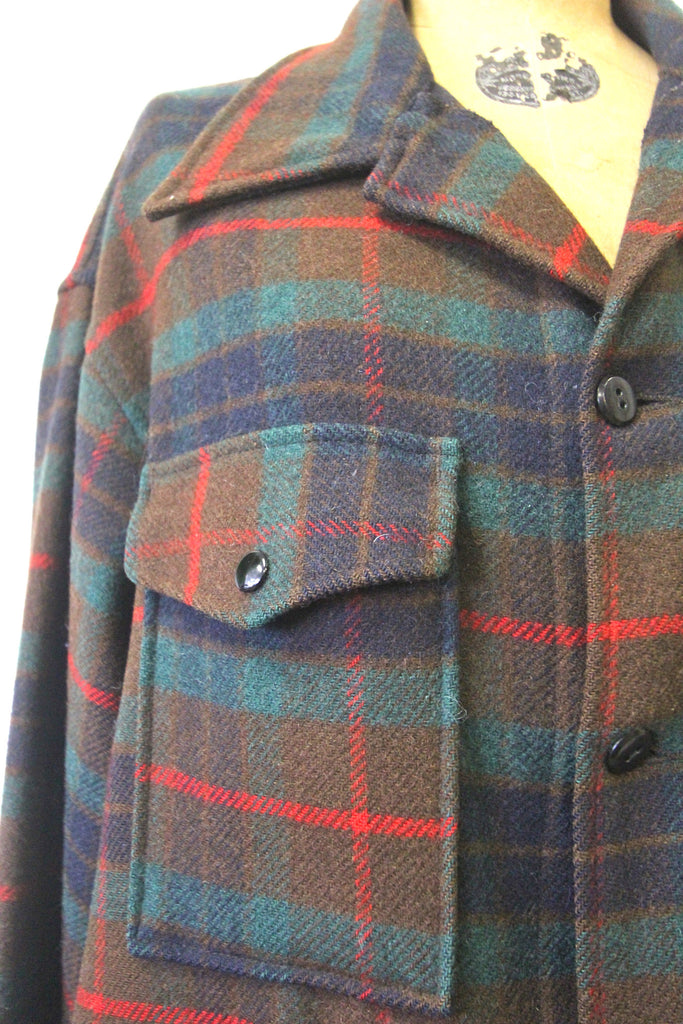 Vintage Pendleton Plaid Barn Coat