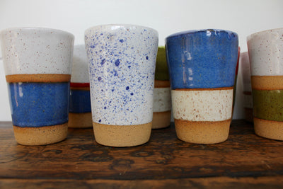 Ceramic To-Go Mug: Speckled - Diamonds & Rust