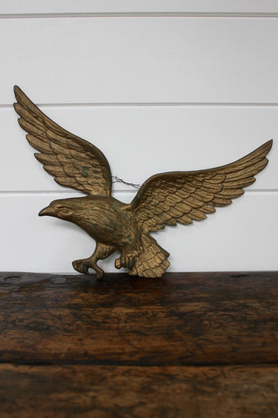 Vintage Brass Eagle - Diamonds & Rust