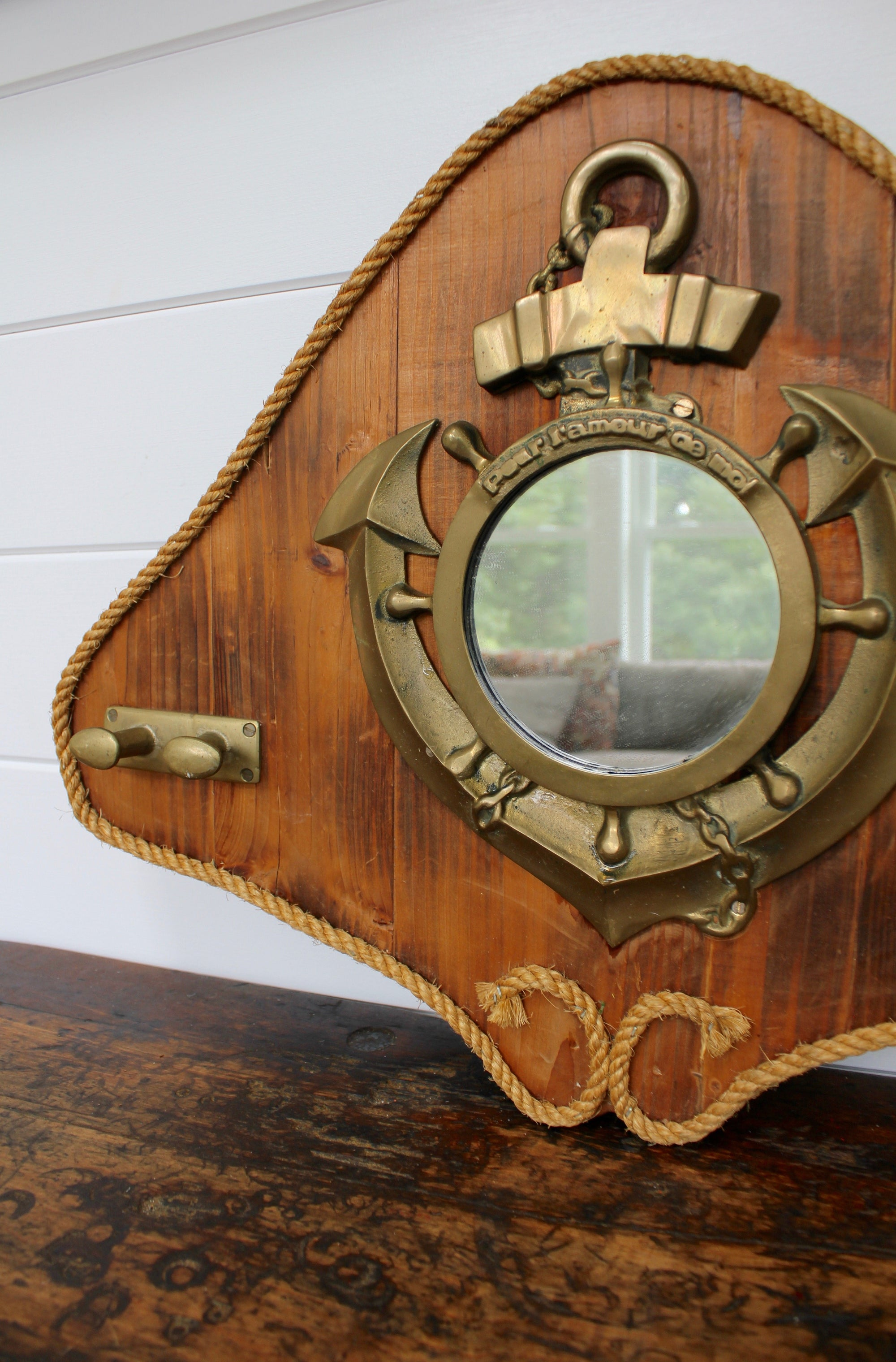 Vintage Anchor Mirror - Diamonds & Rust
