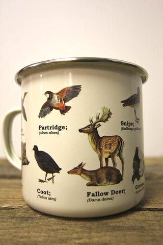 Multi Animal Enamel Mug