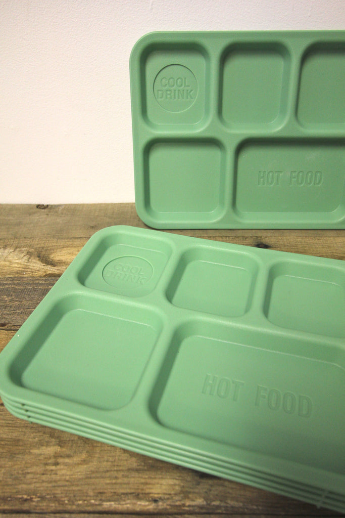 Set of 5 School Lunch Trays