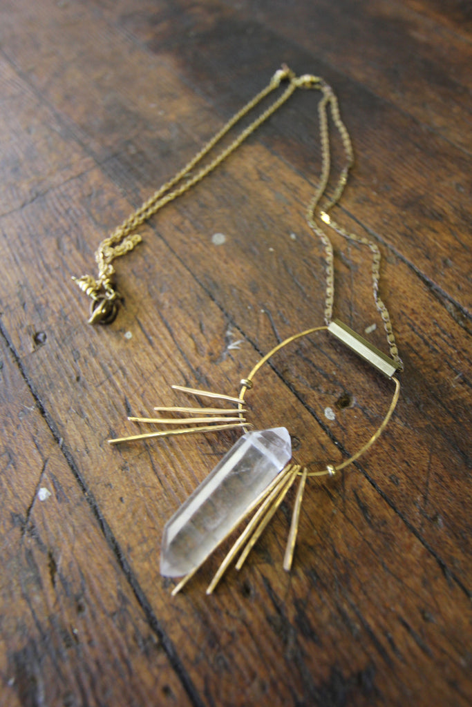 My Arrow Crystal Shield Necklace