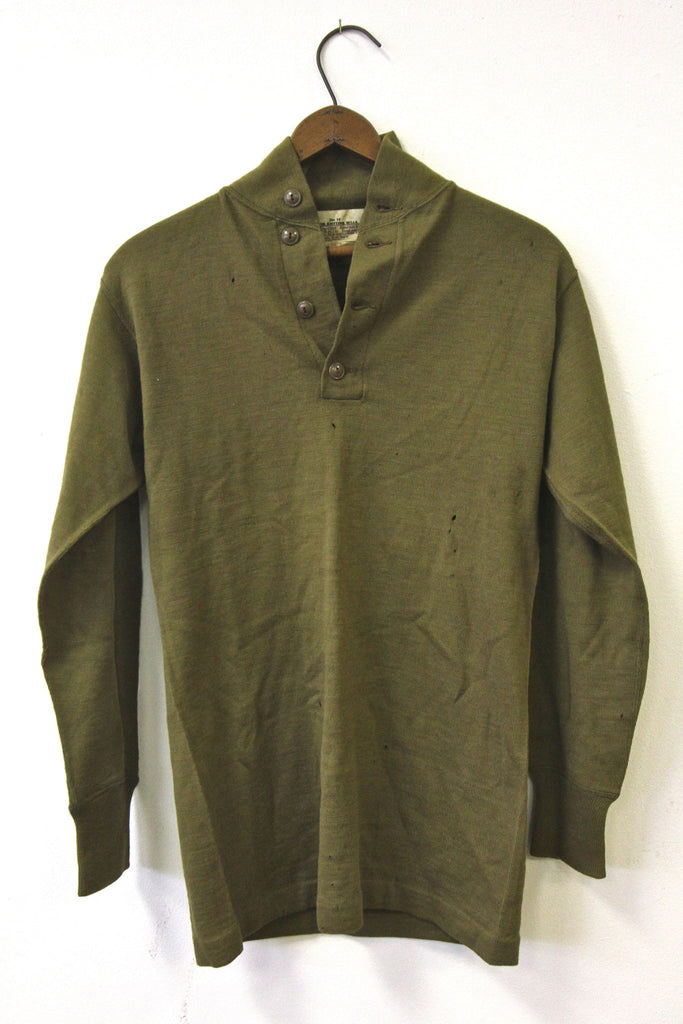 1942 Military Henley - Diamonds & Rust