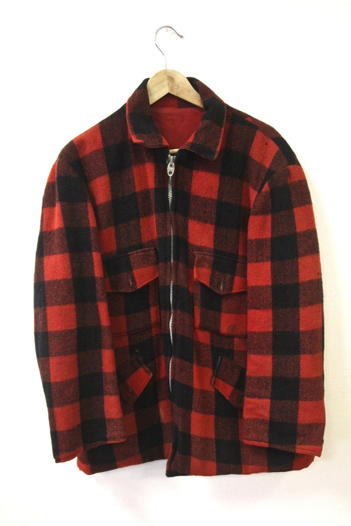 1940s Buffalo Plaid Reversible Jacket