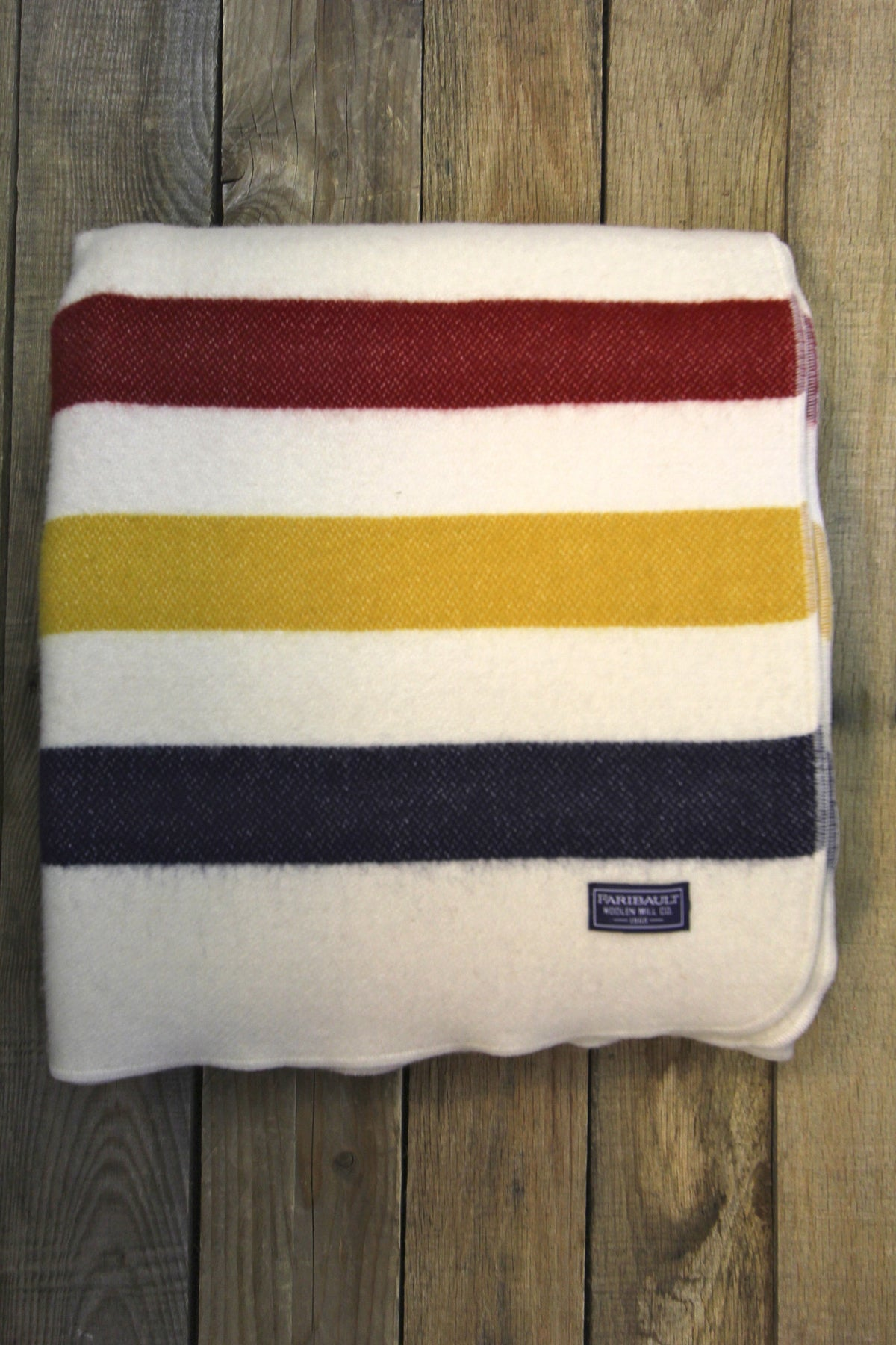 Faribault Revival Stripe Wool Throw