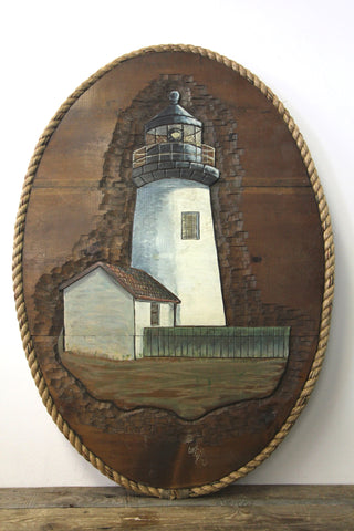Hand Carved Lighthouse Wall Art