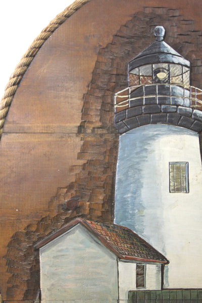 Wood Lighthouse Wall Hanging