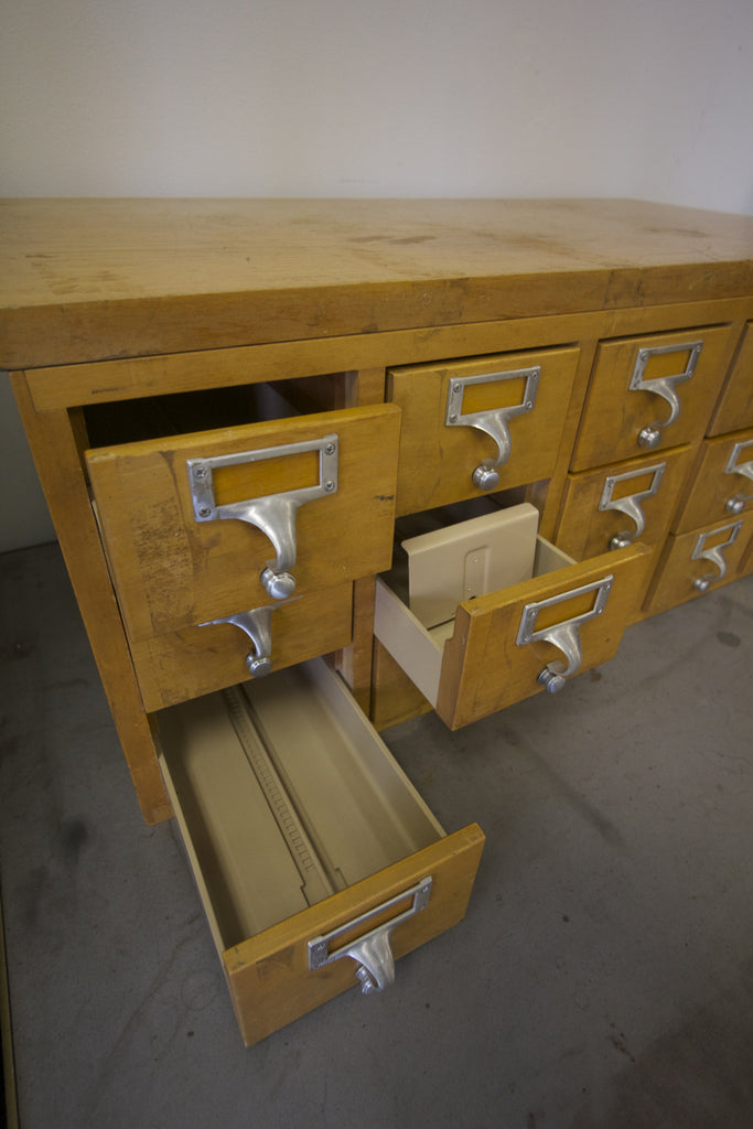 Oak Card Catalog