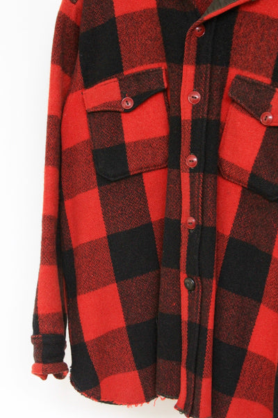 Vintage Woolrich Buffalo Plaid Over Shirt - Diamonds & Rust