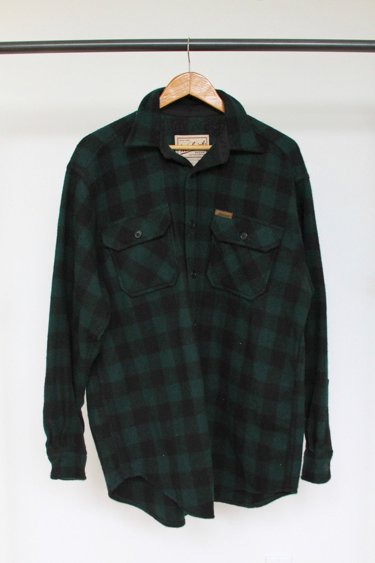 Vintage Woolrich Over Shirt - Diamonds & Rust