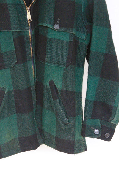 Vintage Woolrich Hunting Coat - Diamonds & Rust