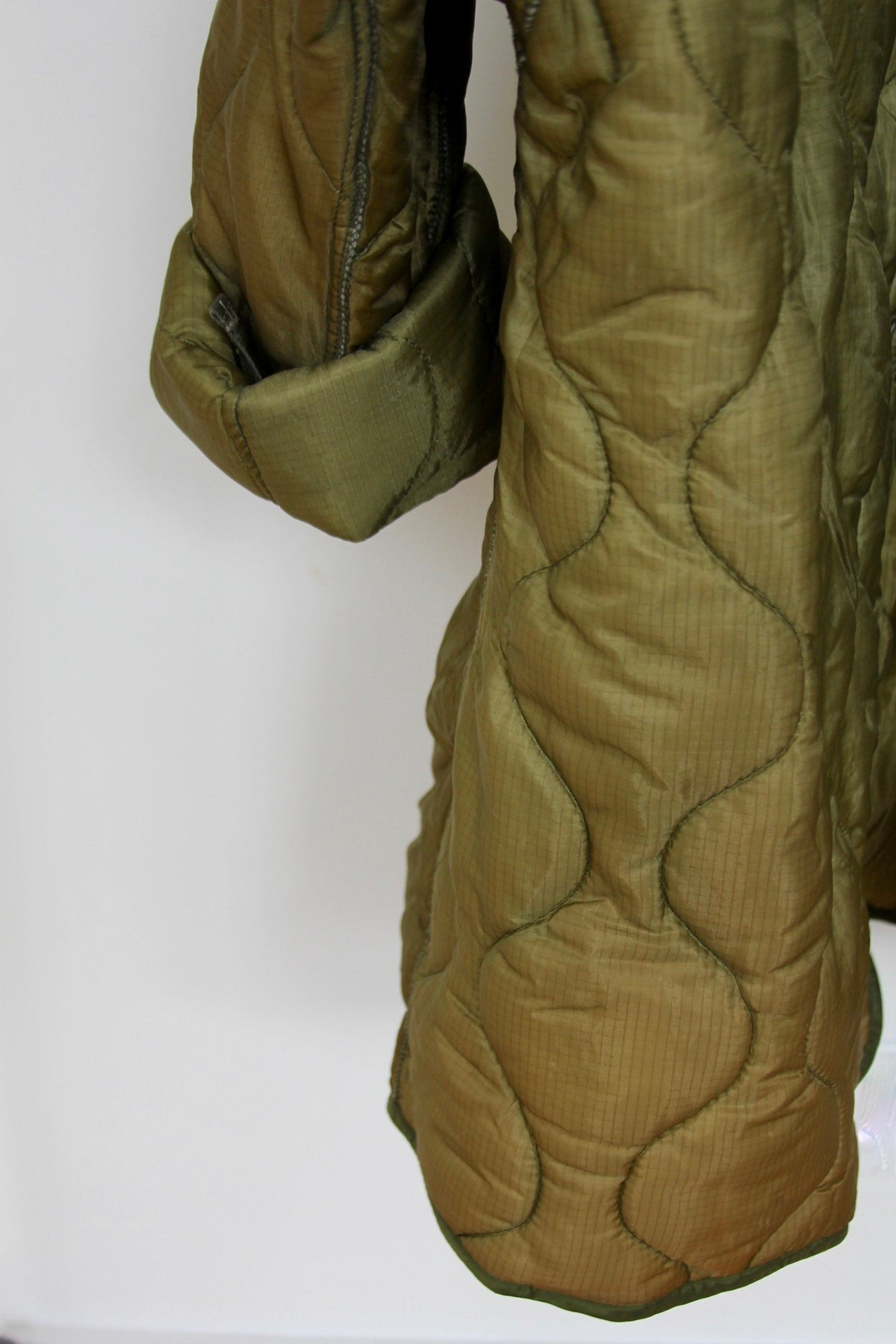 Vintage Quilted Parka Liner Coat - Diamonds & Rust