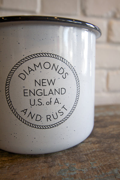"Diamonds and Rust ""Oversized Enamel Mug"""
