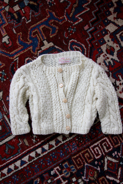 Vintage Fisherman's Cardigan - Kids - Diamonds & Rust