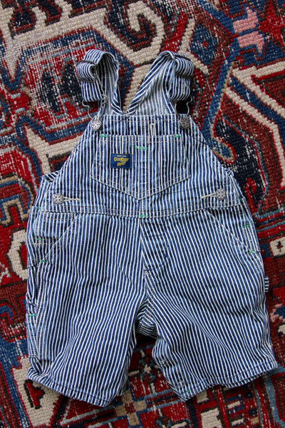 Vintage OshKosh Overall Shorts - Diamonds & Rust