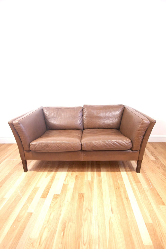 1960s Borge Mogensen Style Leather Sofa