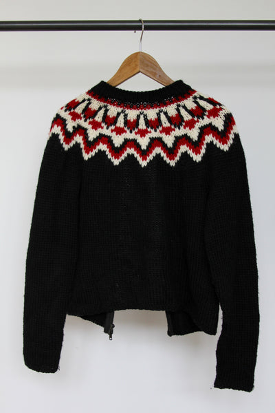 Vintage Hand Woven Sweater - Diamonds & Rust