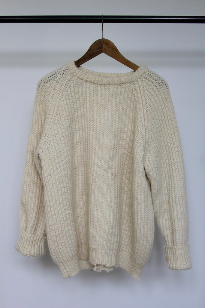 Vintage Fisherman's Sweater: Size 42 - Diamonds & Rust