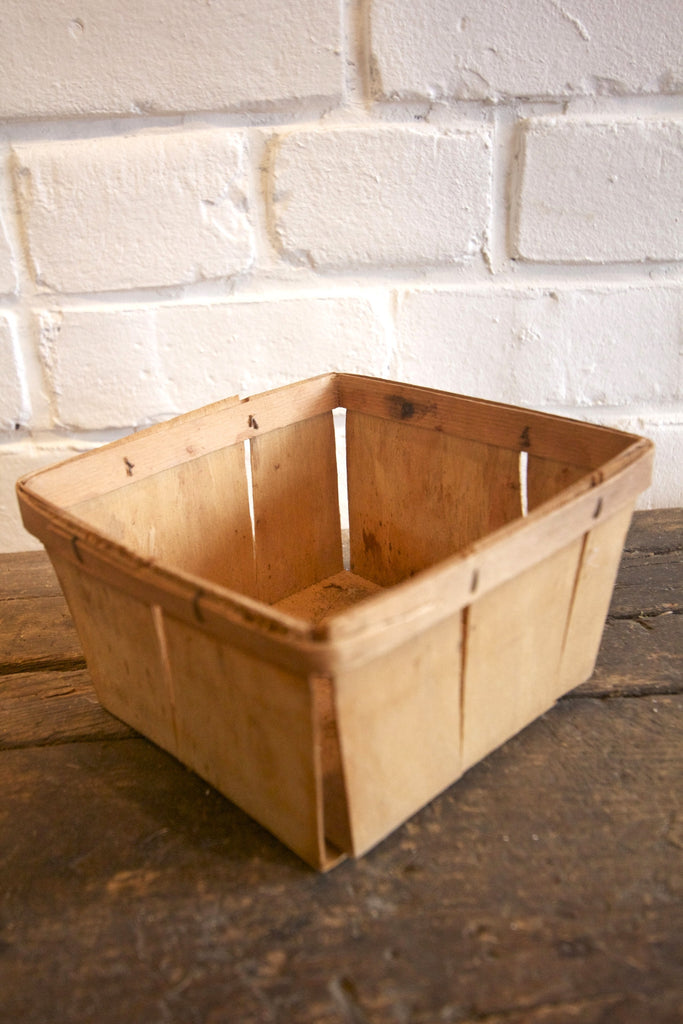 Four Wood Berry Baskets