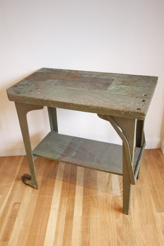 1940s Industrial Portable Workbench