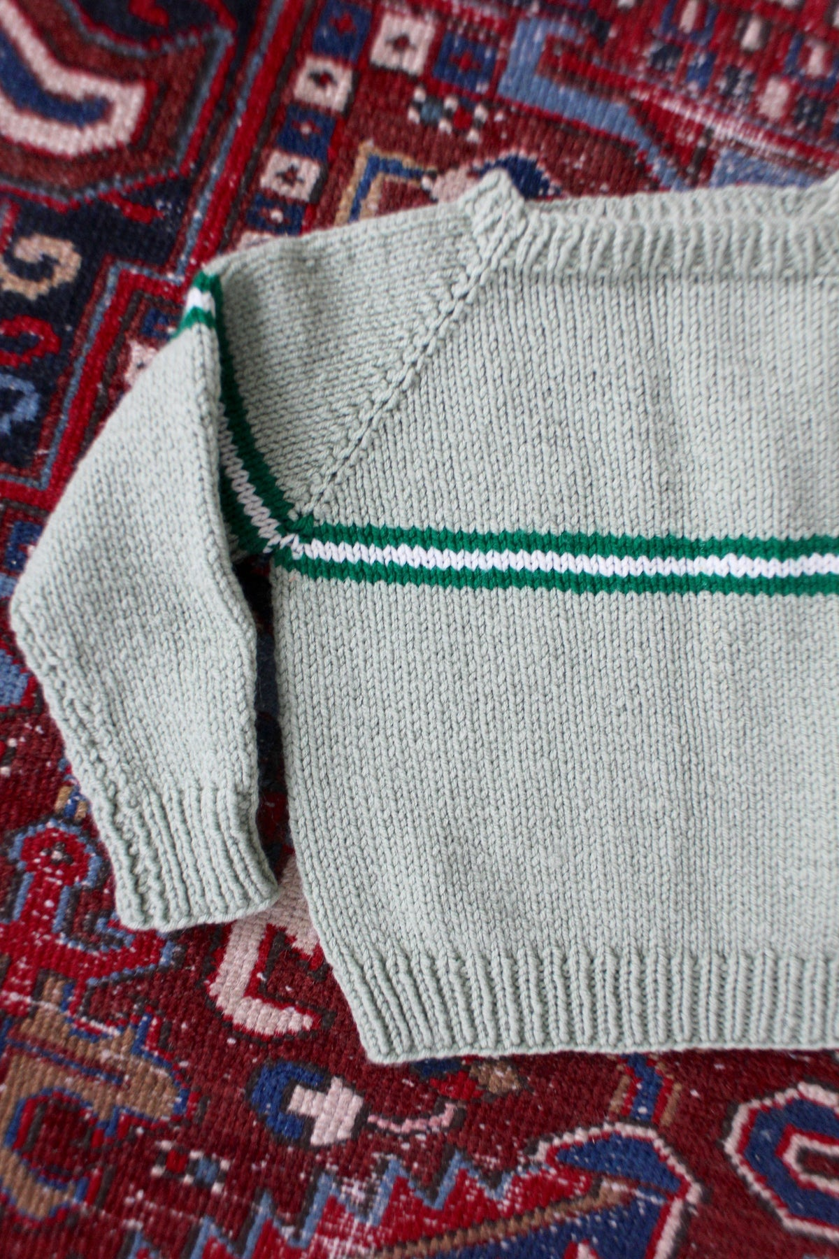 Vintage Sage Crewneck Sweater - Diamonds & Rust