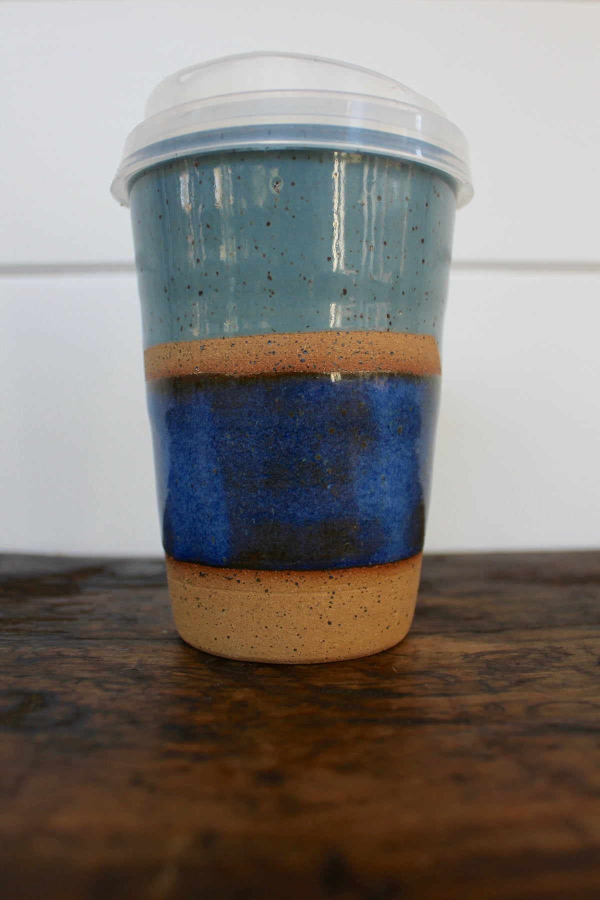 "Carmiclay ""Ceramic To-Go Mug: Slate & Blue"" - Diamonds & Rust"