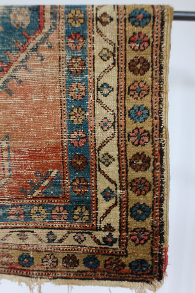 Vintage Runner - Faded Red & Blue - Diamonds & Rust
