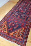 Vintage Rug: Runner - Diamonds & Rust