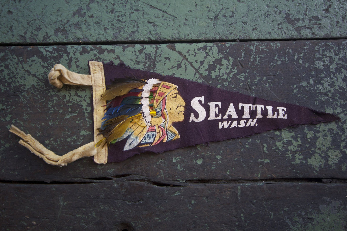 1940s Seattle Wash. Pennant - Diamonds & Rust