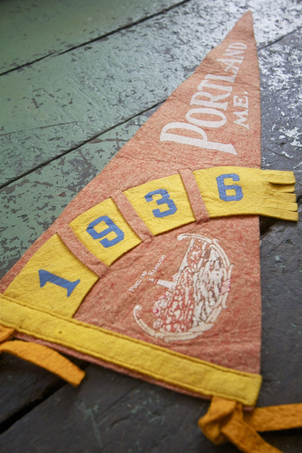 1936 Portland Me Pennant - Diamonds & Rust