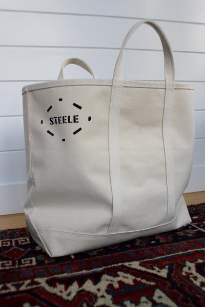 Steele Canvas Tote Bag: Medium - Diamonds & Rust