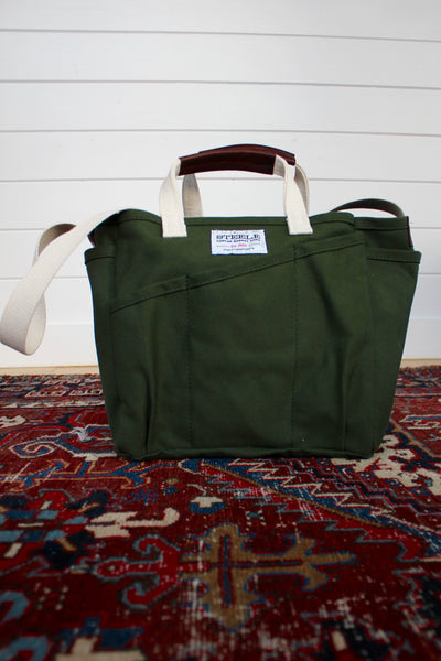 "Steele Canvas ""Utility"" Tote Bag: Olive - Diamonds & Rust"