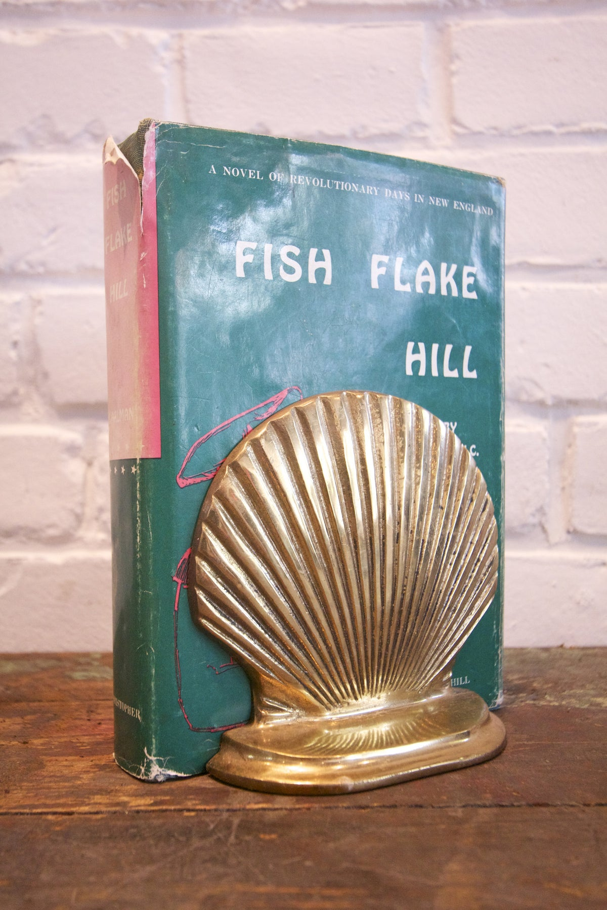 Vintage Brass Clam Bookends