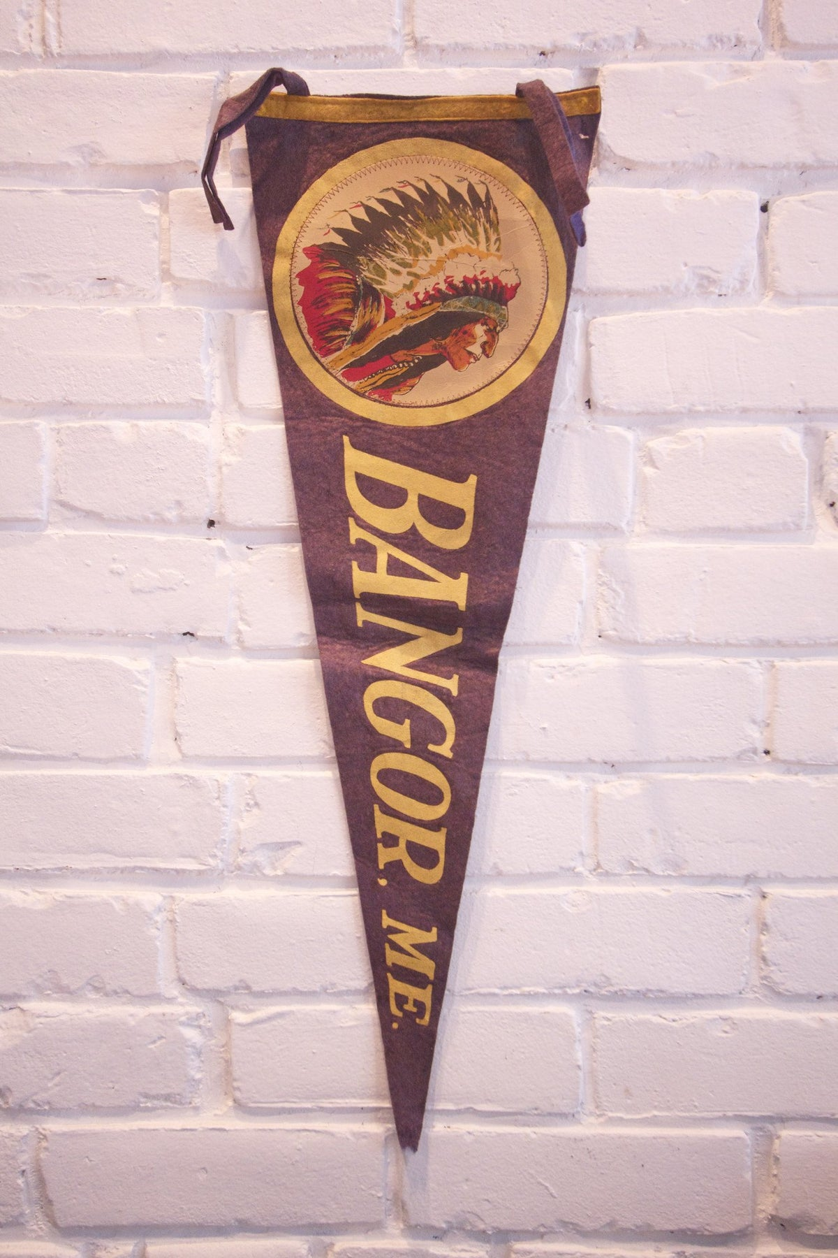 1950s Bangor ME Pennant - Diamonds & Rust