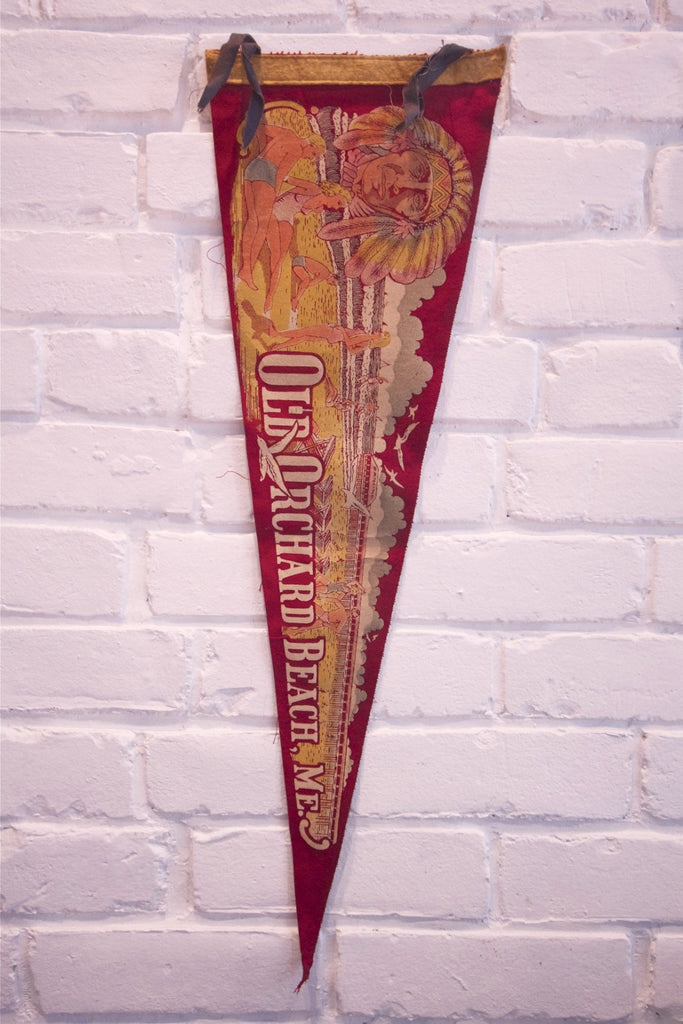 1950s Old Orchard Beach ME Pennant
