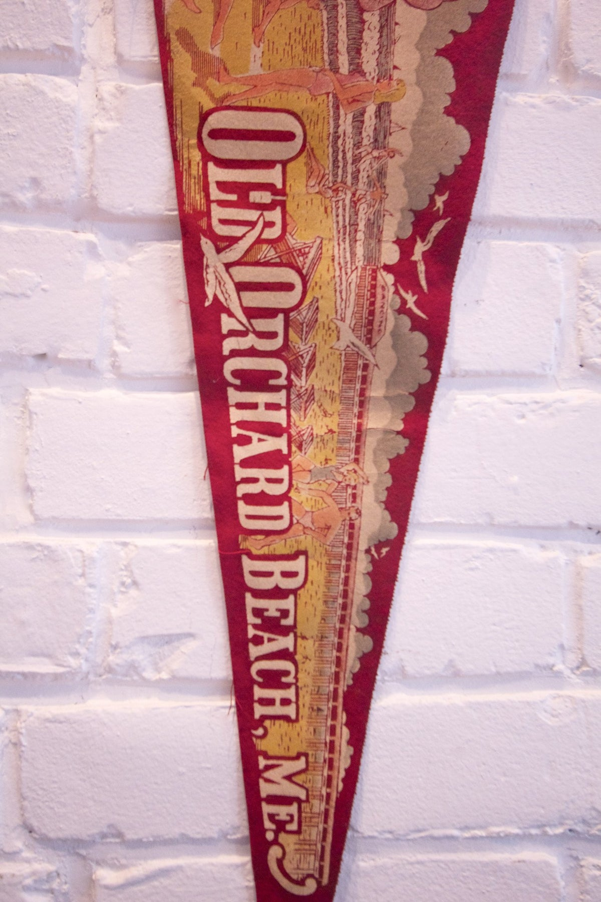 1950s Old Orchard Beach ME Pennant - Diamonds & Rust