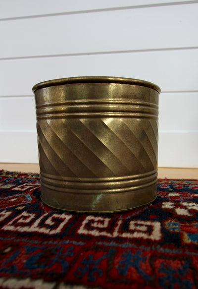 Vintage brass planter - Diamonds & Rust