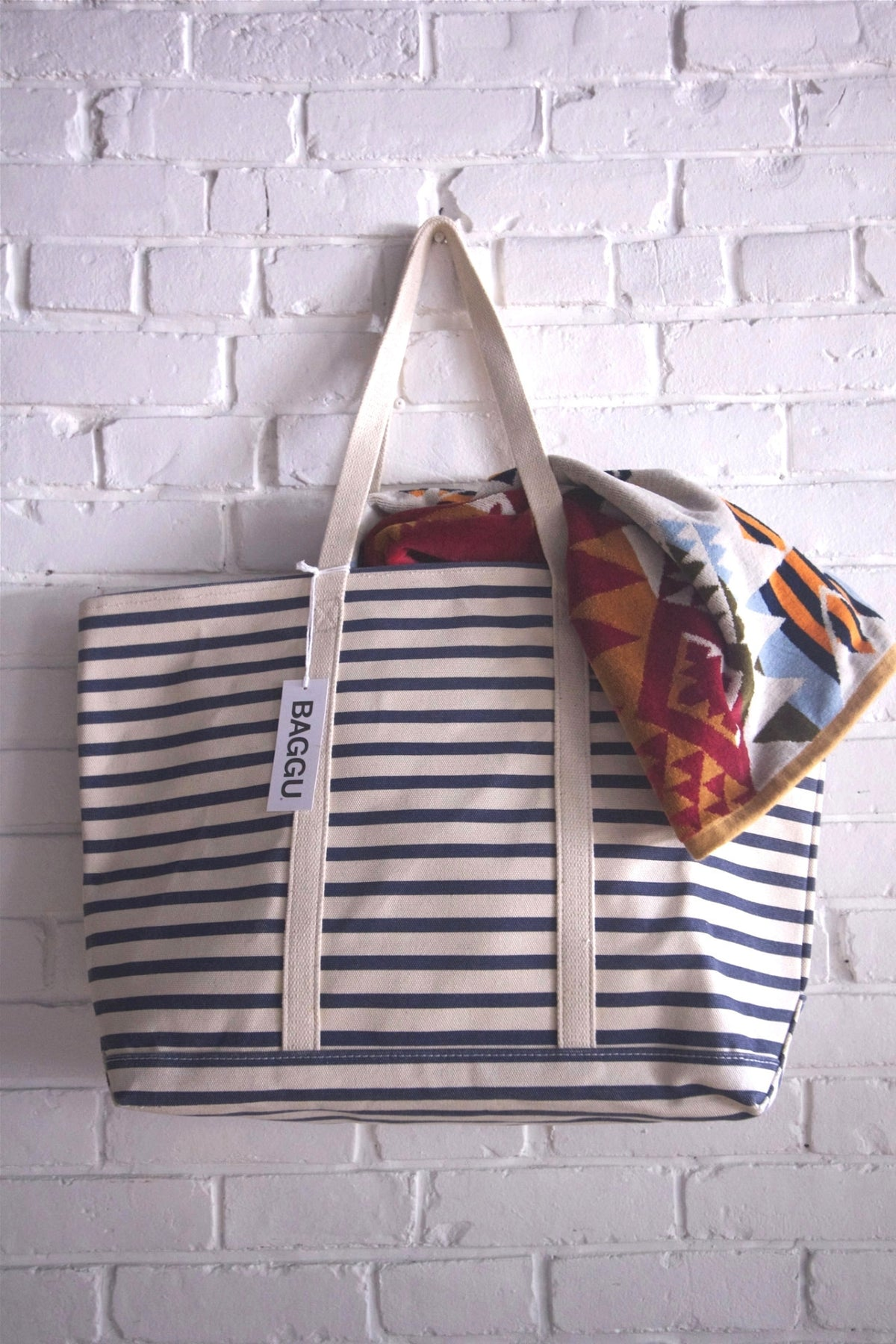 Sailor Stripe Boat Tote