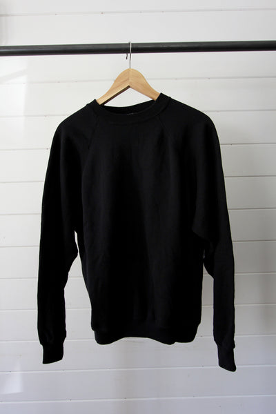 Vintage Black Crewneck - Diamonds & Rust
