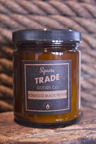 Tobacco Black Pepper 8oz Candle