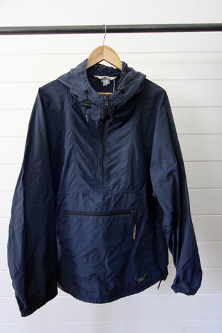 Vintage LL Bean Navy Anorak Pullover