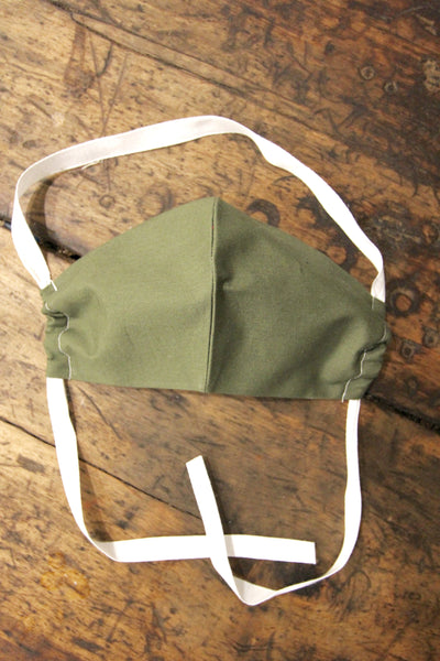 Army Green Face Mask - Diamonds & Rust
