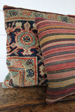 Vintage Striped Woven Pillow