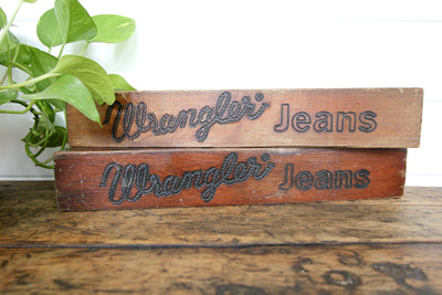 Vintage Wrangler Jeans Ad Sign - Diamonds & Rust
